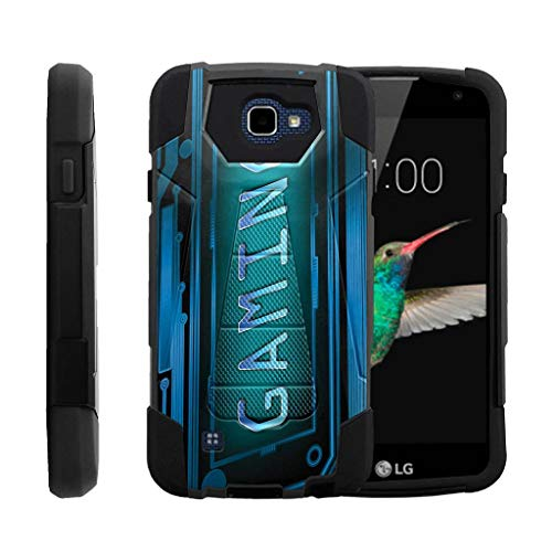 TurtleArmor | Compatible for LG K4 Case | Optimus Zone 3 | LG Spree | LG Rebel [Dynamic Shell] Hybrid Hard Absorber Impact Silicone Cover Kickstand Video Games - Gaming Cyber