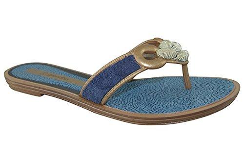 Grendha Brasil exotic Tanga para mujer Flip Flops Azul