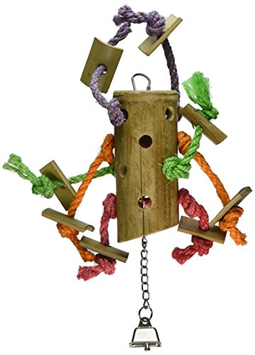 Paradise 6 by 16-Inch Bamboo Spider Pet Toy, Large