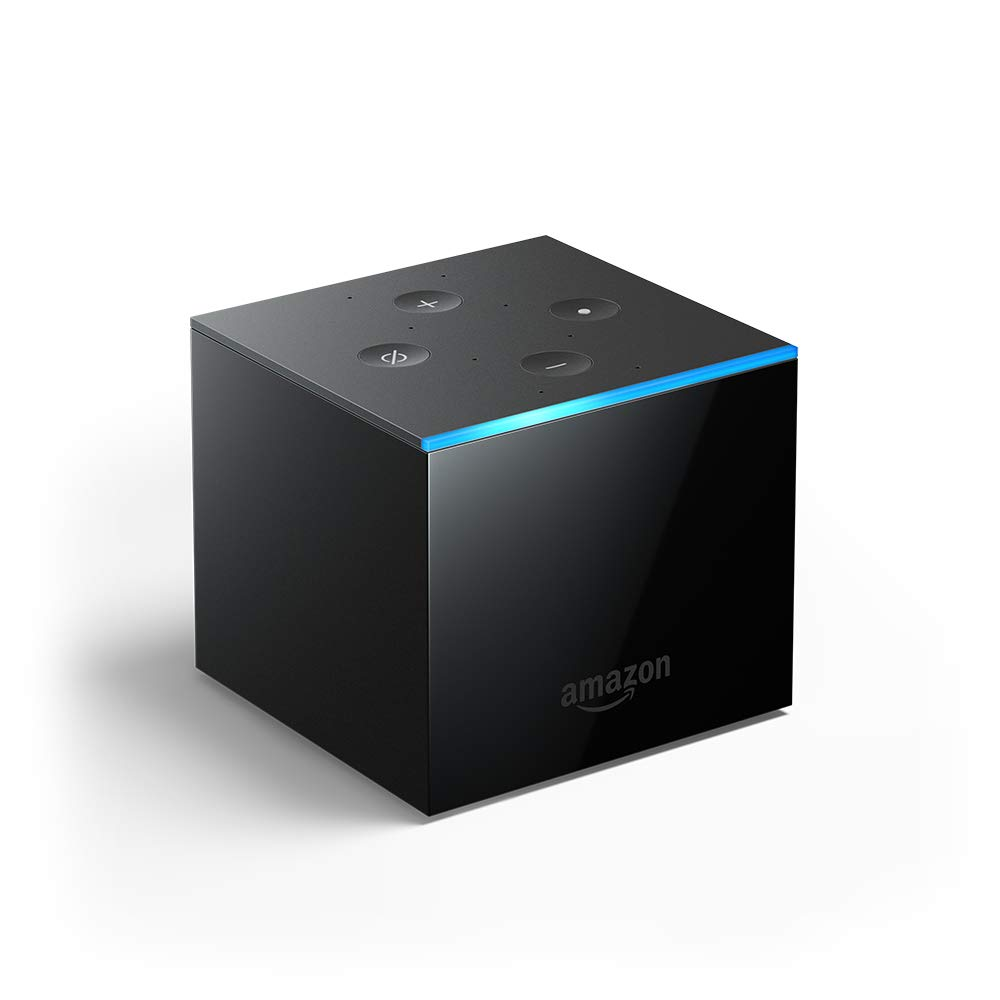 All-new Fire TV Cube, hands-free with Alexa and 4K Ultra HD, streaming media player by Amazon
