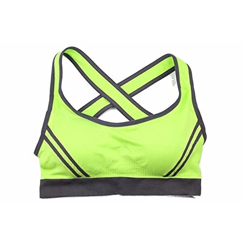XXSZKAA Cross Sports Bra/No Trace Yoga Sommeil Run Antichoc Soutien-Gorge/Stretch Respirant