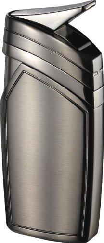 Visol Spark Single Torch Flame Satin Gunmetal Lighter, Gun Satin