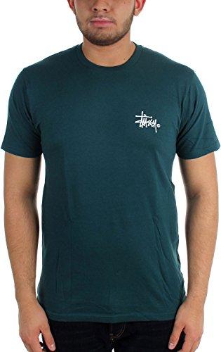 Stussy - Mens Basic Logo T-Shirt, Size: XX-Large, Color: Teal