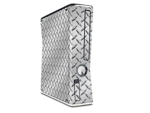 Diamond Plate Metal Decal Style Skin for XBOX 360 Slim Vertical ()