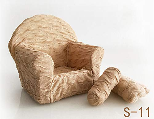 Dvotinst Newborn Photography Props, Soft Posing Mini Sofa Poser Arm Chair for Baby Photo Shooting, Studio Accessories (S11, 1-2 Months)