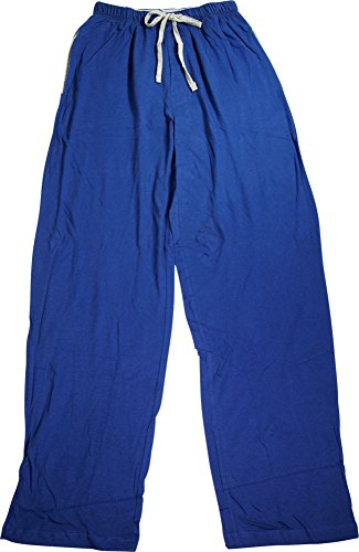 Hanes Mens Big & Tall Cotton Drawstring Pajama Sleep Pants, 4XL, Blue