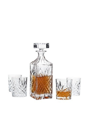 Dublin Whiskey Bar Set Decanter 4 DOF ()