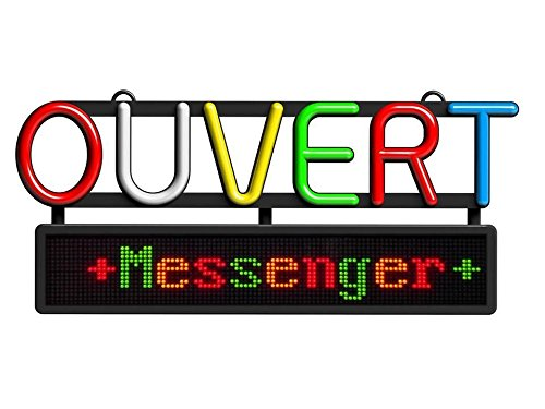 ROYAL SOVEREIGN RSB-1350F Open Sign with Scrolling Messenger, French, Black