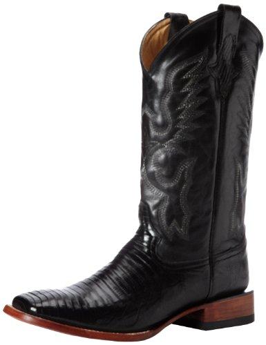 Ferrini Men's Teju Lizard S-Toe Western Boot,Black,9 D ()