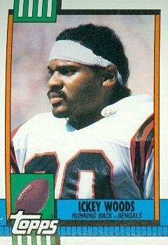 Ickey Woods Football Card (Cincinnati Bengals) 1990 Topps #277