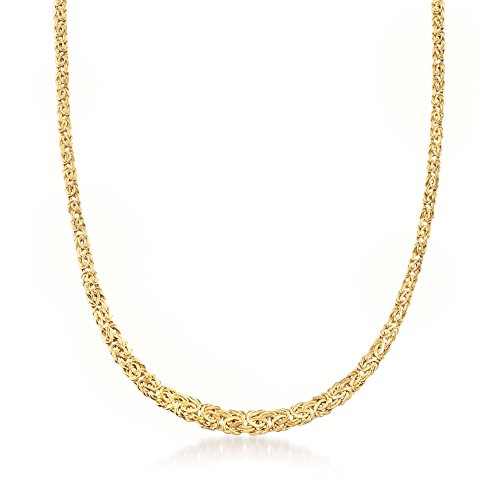Ross-Simons 14kt Yellow Gold Graduated Byzantine - Necklace Byzantine Graduated
