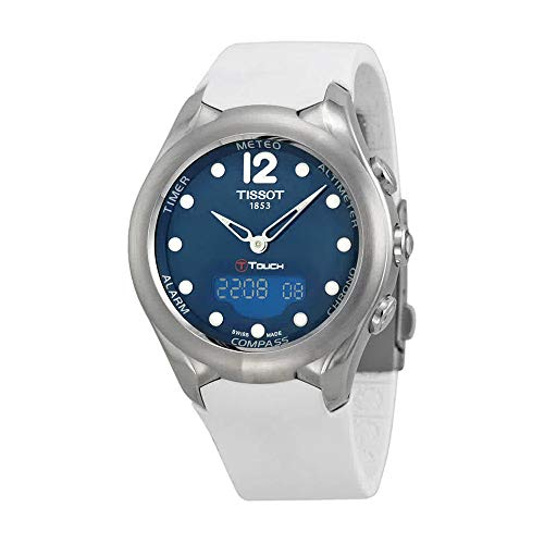 Tissot T-Touch Solar BlueDial White Rubber Ladies Watch T0752201704700