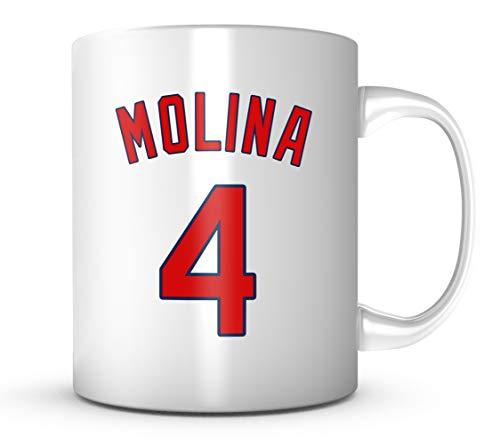 Yadier Molina Mug - Jersey Number Baseball Coffee Cup (Louis Cardinals Ceramic)