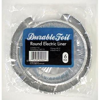 Round Electric Burner Foil Liners - 6 Pack Case Pack 24 Home