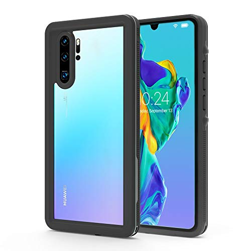 Jiangym Mobile Phone Hard Cases Shockproof Waterproof PC+TPU Protective Case for Huawei P30 Pro (Black) Hard Cases (Color : Black)
