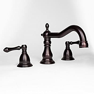 """Eight24hours NEW Roman Oil Rubbed Bronze 8"""" Widespread Bathroom Faucet Vanity Sink Lavatory"""