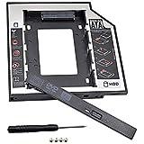 Alfais Al-4716 SATA HDD Harddisk Caddy Kızak Kutu SSD Notebook , İkinci HDD Takma, 9.5 mm
