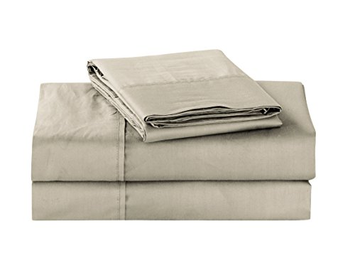 Unique Home Super Soft Microfiber 200 Count Taupe Queen Sheets & Pillow Set
