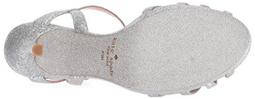 Kate Spade New York Women's Florence Heeled Sandal, Silver Thin Glitter, 7 Medium US by Kate Spade New York (Image #3)