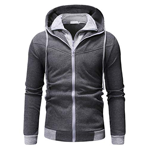 (Men's Autumn Winner Long Sleeve Splicing Sweatshirt Top Tee Blouse Jacket)