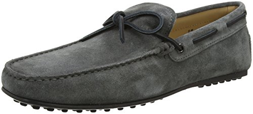 Tods City Gommino Suede, Mocassini Uomo Grey (Mold)