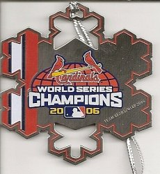 St. Louis Cardinals 2006 World Series Champions Snowflake (St Louis Cardinals World Series Champions)
