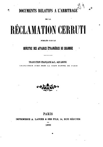 documents-relatifs-a-larbitrage-de-la-reclamation-cerruti-french-edition