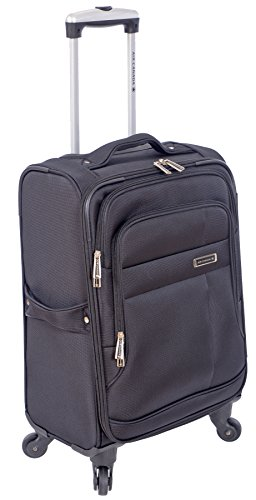 air-canada-20-travel-carry-on-luggage-with-spinner-wheels-black