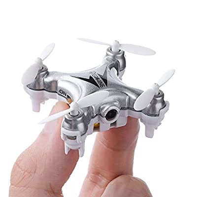 Mini Drone with Camera Live Video, EACHINE E10W WiFi FPV Mini Quadcopter with HD Camera Selfie Pocked Drone RTF - 3D Flip, APP Control, Headless Mode, One-Key Return, LED Lights (E10C) by EACHINE