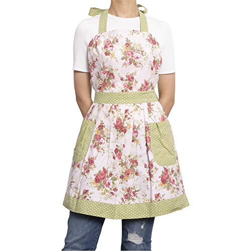 NEOVIVA Kitchen Aprons for Women with Pockets, Durable Women's Chef Aprons for Cooking, Baking, BBQ and Gardening, Style… 4