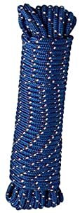 Crawford-Lehigh MFP8100 3/8-Inch-by-100-Foot Diamond Braid Poly Rope, Colors Vary