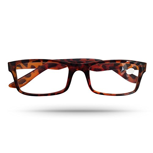 Deluxe Rectangular Frame Unisex Reading Eyeglasses in Vivacious Animalistic Copper - Mall Stores Dartmouth In
