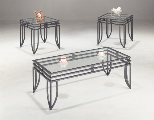 Coaster 3 Piece Occasional Table Black