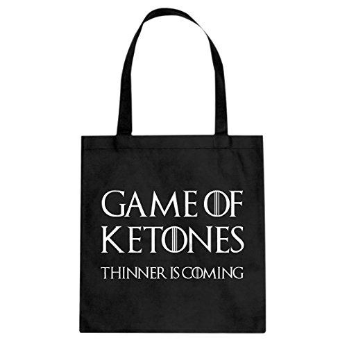 Price comparison product image Tote Game of Ketones Large Black Canvas Bag