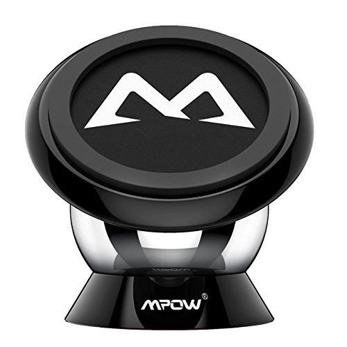 Car Mount Holder, Mpow Magnetic Cell Phone Holder 360° Rotatable Universal Sticky Mini Dashboard GPS Car Mount Phone Cradle for iPhone 7 7 Plus 6S/6 Plus, Galaxy S7/ S6/ S6 Edge/S5, Black
