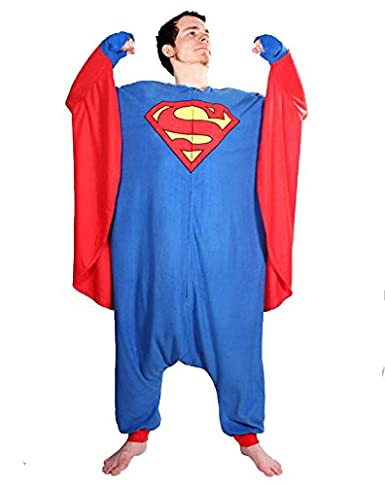 Superman / SuperGirl Fleece Kigurumi Pajama (One Size)