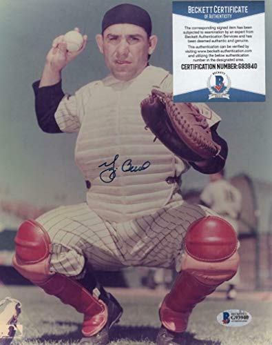 Yogi Berra New York Yankees Autographed Signed Memorabilia 8x10 Photo - Beckett ()