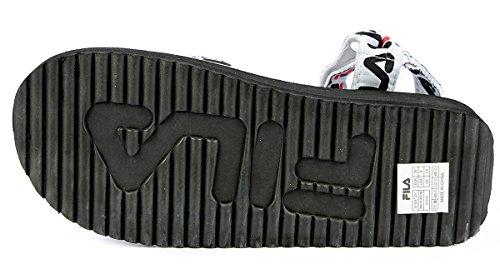 Stampati Bianca Fila Art 101034725Y Sandalo con MOD Nero Loghi Tomaia Donna Logo Tomaia Sandal con Fondo qAwRZUqax