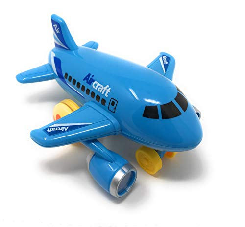 Mini Friction Powered Airplanes with Lights and Air Plane Sounds – Set of 3 Push and Go Toy Travel Set Planes for Toddler Kids
