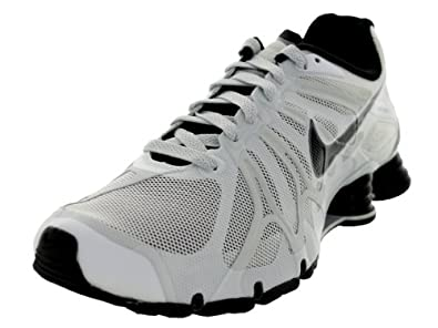 Mens Nike Shox Turbo+ 13 Running Shoes Summit White / Black / Pure Platinum / Grey 525155-100 Size 8