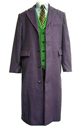 OEM Joker Long Trench Coat Dark Knight Costume (M) ()