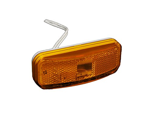 RV Designer E387, Clearance Light, Winnebago Style, Amber, Exterior Hardware (Winnebago Parts)