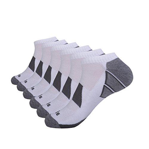 Linking Cut Outs - JOYNÉE Men's 6 Pack Athletic No Show Performance Comfort Cushioned Low Cut Socks …