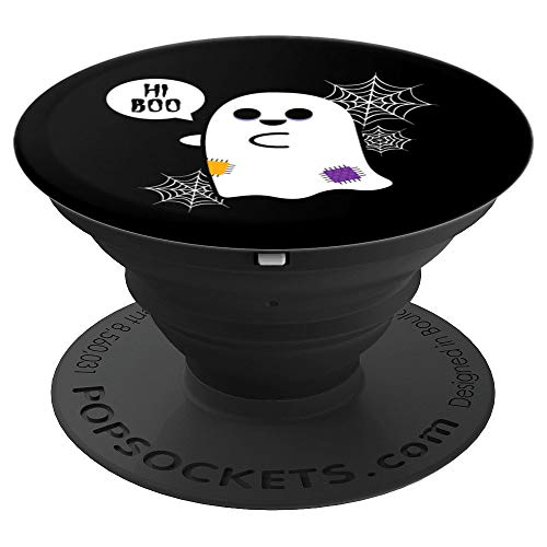 Hi Boo Cute Ghost PopSockets Grip - PopSockets Grip and Stand for Phones and Tablets -