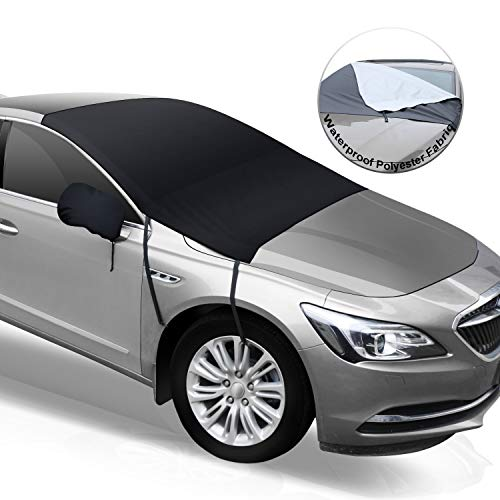 Feagar Car Windshield Snow Cover, Frost Guard Windshield Cover for Ice and Snow, with Rear Mirror Covers and Waterproof Polyester Fabric, Snow, Ice, Frost, UV Full Protection, Fit for Universal Cars