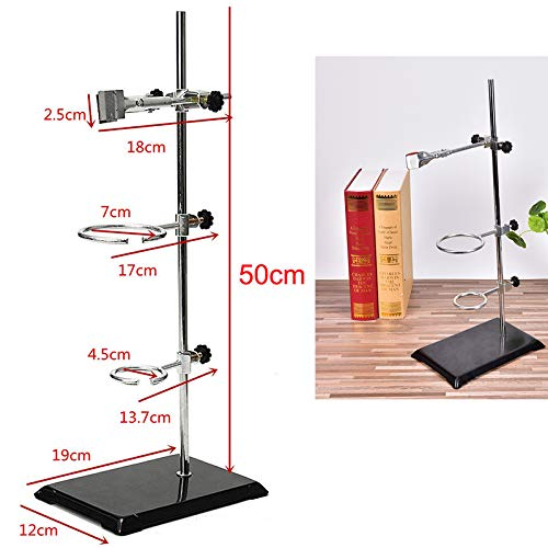 1 Set 50CM High Retort Stand Iron Stand with Clamp Clip Laboratory Ring Stand School Supplies by AIBOAT