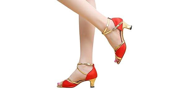 YKARITIANNA Rumba Waltz Zapatos de baile para baile de salón latino, para mujer: Amazon.es: Juguetes y juegos