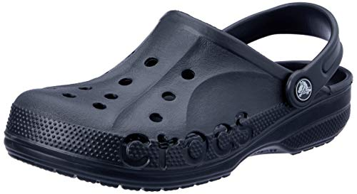 Crocs Mens and Womens Baya Clog, Black, 13 US Women / 11 US Men