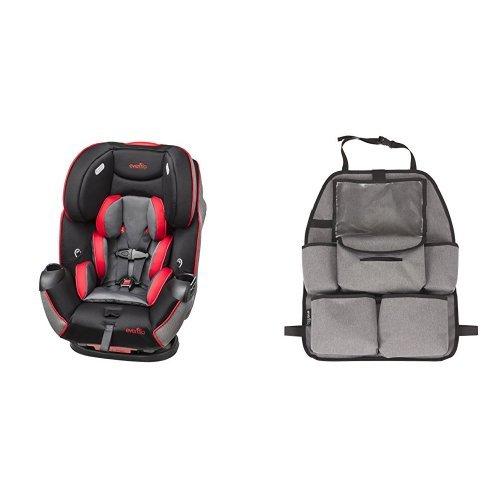 Convertible Car Seat, Kronus with Deluxe Car Backseat Organizer, Grey Melange ()