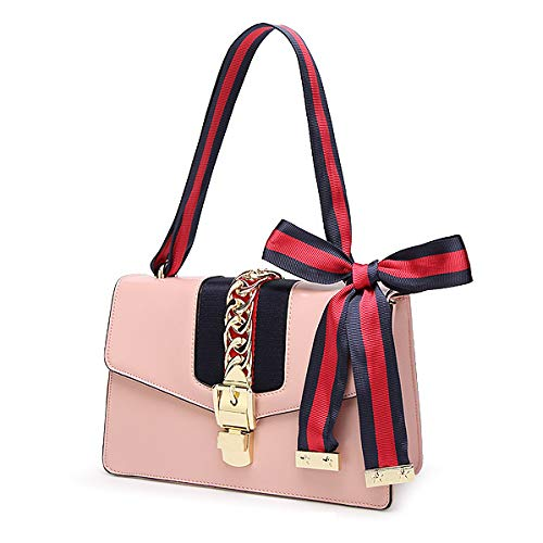 In Tracolla Pelle Fiocco 25 9 A 16cm pink Donna Piccola Borsa Con Pink Hope Due Da Raso Tracolle 4qHxInw